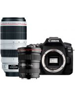 Canon EOS 90D + EF 17-40/4 L USM + EF 100-400/4.5-5.6L IS II USM -systemkamera