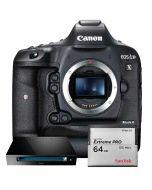 Canon EOS-1D X Mark II kamerahus + SanDisk CFast 2.0 64GB + CFast 2.0 Reader