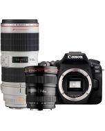 Canon EOS 90D + EF 17-40/4 L USM + EF 70-200/2.8 L IS III USM -systemkamera