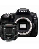 Canon EOS 90D + EF 24/2.8 IS USM -systemkamera