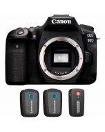 Canon EOS 90D + Saramonic Blink 500 B2 (TX+TX+RX)