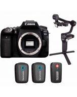 Canon EOS 90D + Saramonic Blink 500 B2 + Zhiyun Weebill S Gimbal