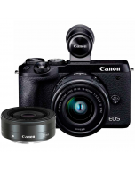 Canon EOS M6 Mark II + 15-45mm IS STM + 22mm f/2 STM