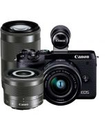 Canon EOS M6 Mark II + 15-45mm IS STM + 28mm IS STM Macro + 55-200mm IS STM