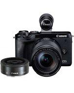 Canon EOS M6 Mark II + 18-150mm IS STM + 22/2 STM, svart