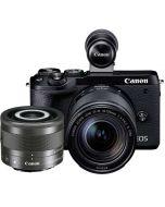 Canon EOS M6 Mark II + 18-150mm IS STM + 28/3.5 IS STM Macro, svart