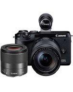 Canon EOS M6 Mark II + 18-150mm IS STM + 32/1.4 STM, svart