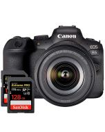 Canon EOS R6 + RF 24-105mm f/4-7.1 IS STM + 2 X SanDisk SDXC Extreme Pro 128GB