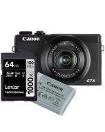 Canon PowerShot G7 X Mark III, svart + NB-13L + Lexar Pro 1000X 64GB SDXC