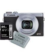 Canon Powershot G7 x Mark III silver + NB-13L + Lexar Pro 1000X 64GB SDXC