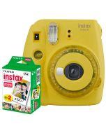 Fuji Instax Mini 9, Gul + Instax Mini Film 2 x 10st