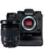 Fujifilm X-H1 + VPB-XH1 + 2 x Extra Batteri + XF 16-55/2.8 R LM WR