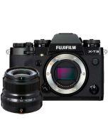Fujifilm X-T3 + XF 23/2 R WR, svart