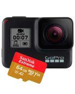 GoPro Hero 7 Black actionkamera + SanDisk Extreme microSDXC A2 V30 64GB 160MB/s minneskort
