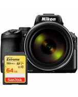 Nikon Coolpix P950, svart + SanDisk Extreme SDXC V30 64GB 150MB/s