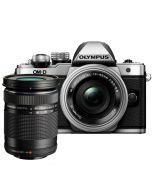 Olympus OM-D E-M10 Mark II + M.Zuiko 14-42 EZ + M.Zuiko 40-150 systemkamera, silver