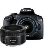 Canon EOS 2000D + EF-S 18-55/3.5-5.6 IS II + EF 50mm f/1.8 STM systemkamera