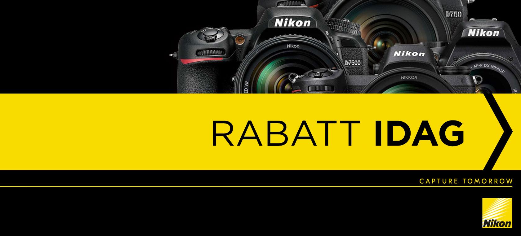 Nikon Rabatt idag